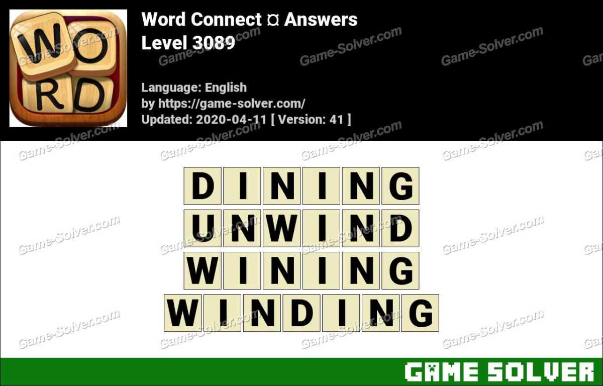 Word Connect Level 3089 Answers