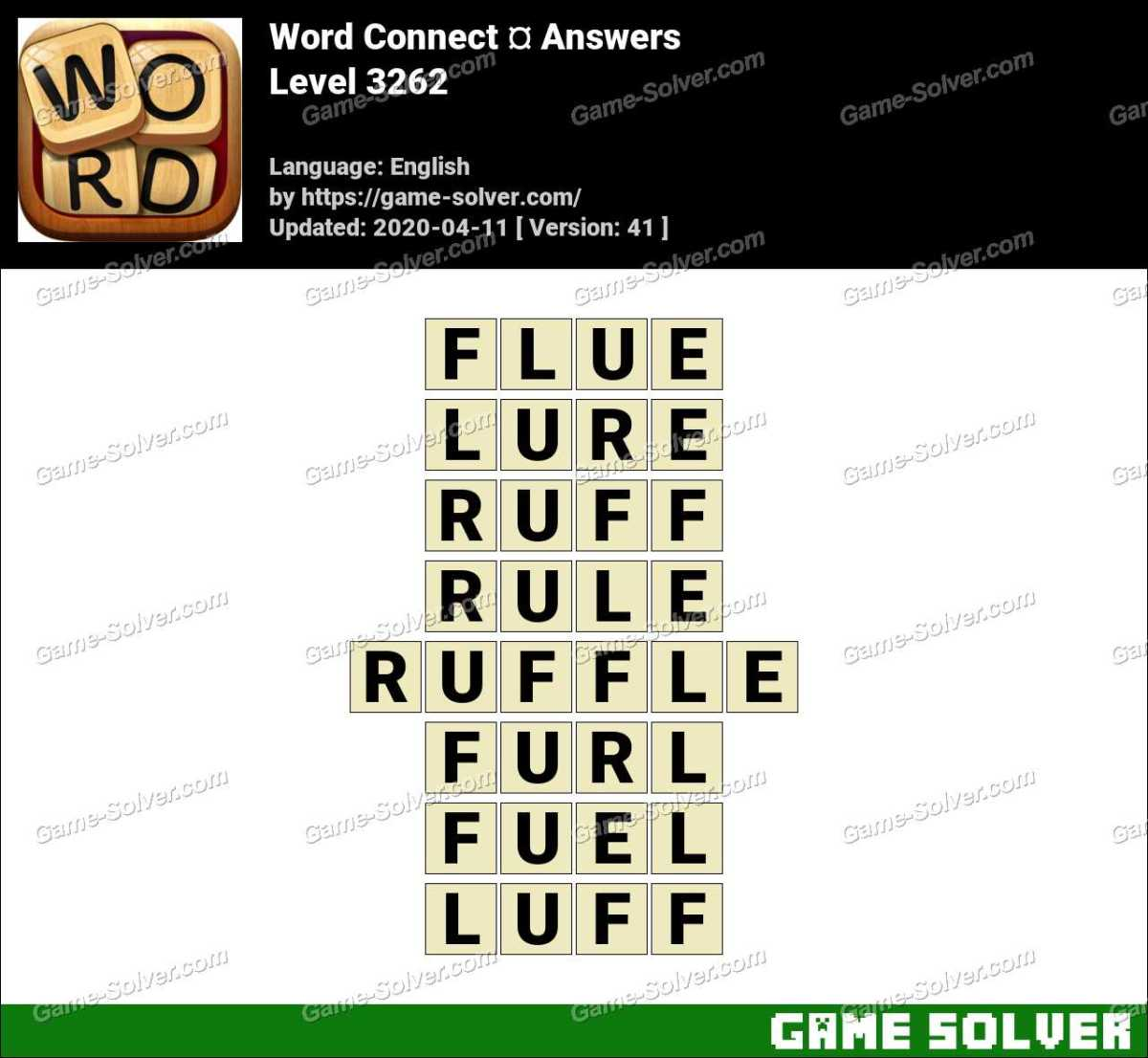 Word Connect Level 3262 Answers