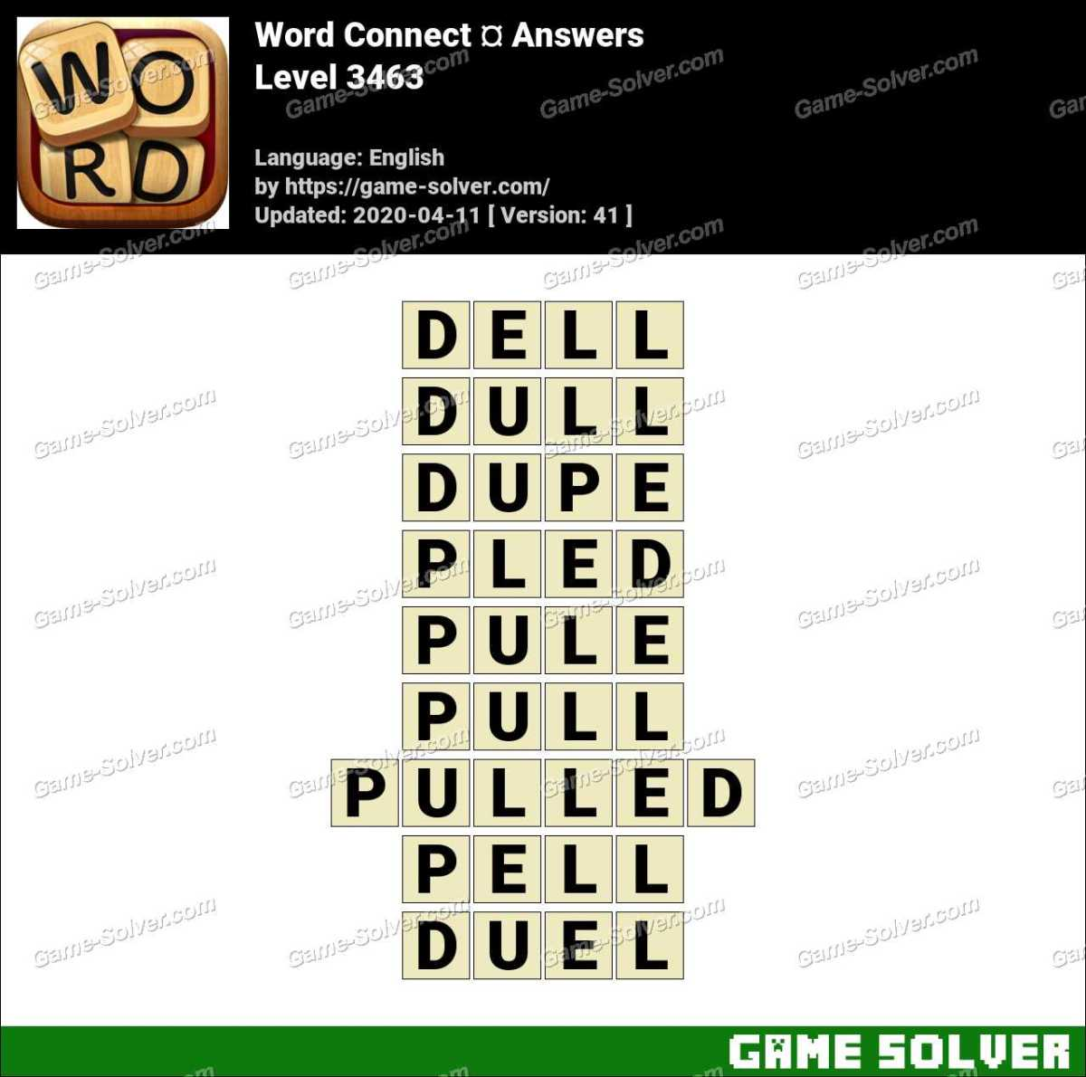 Word Connect Level 3463 Answers