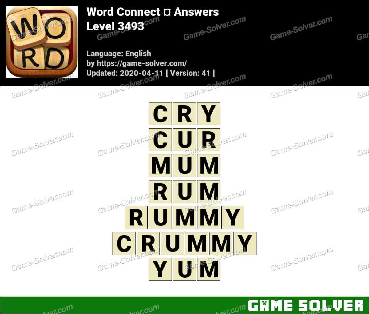 Word Connect Level 3493 Answers