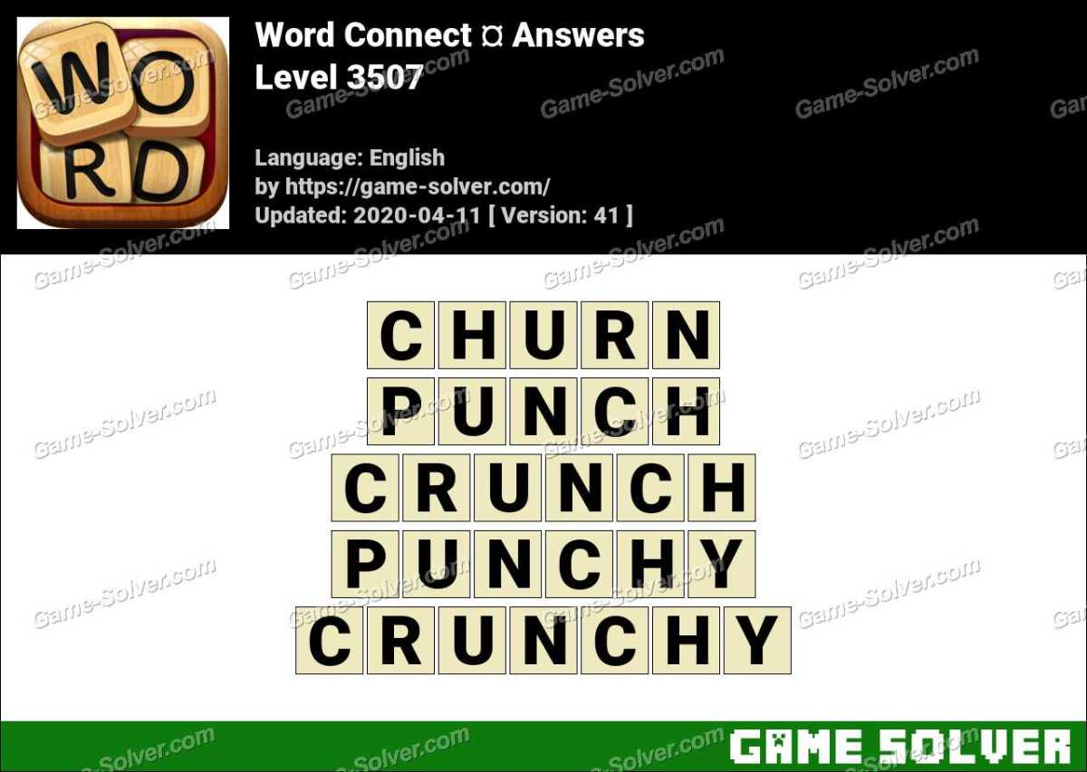 Word Connect Level 3507 Answers