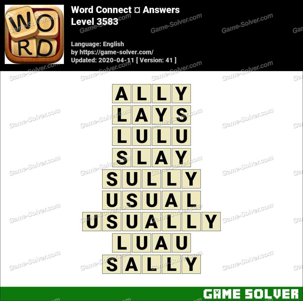 Word Connect Level 3583 Answers