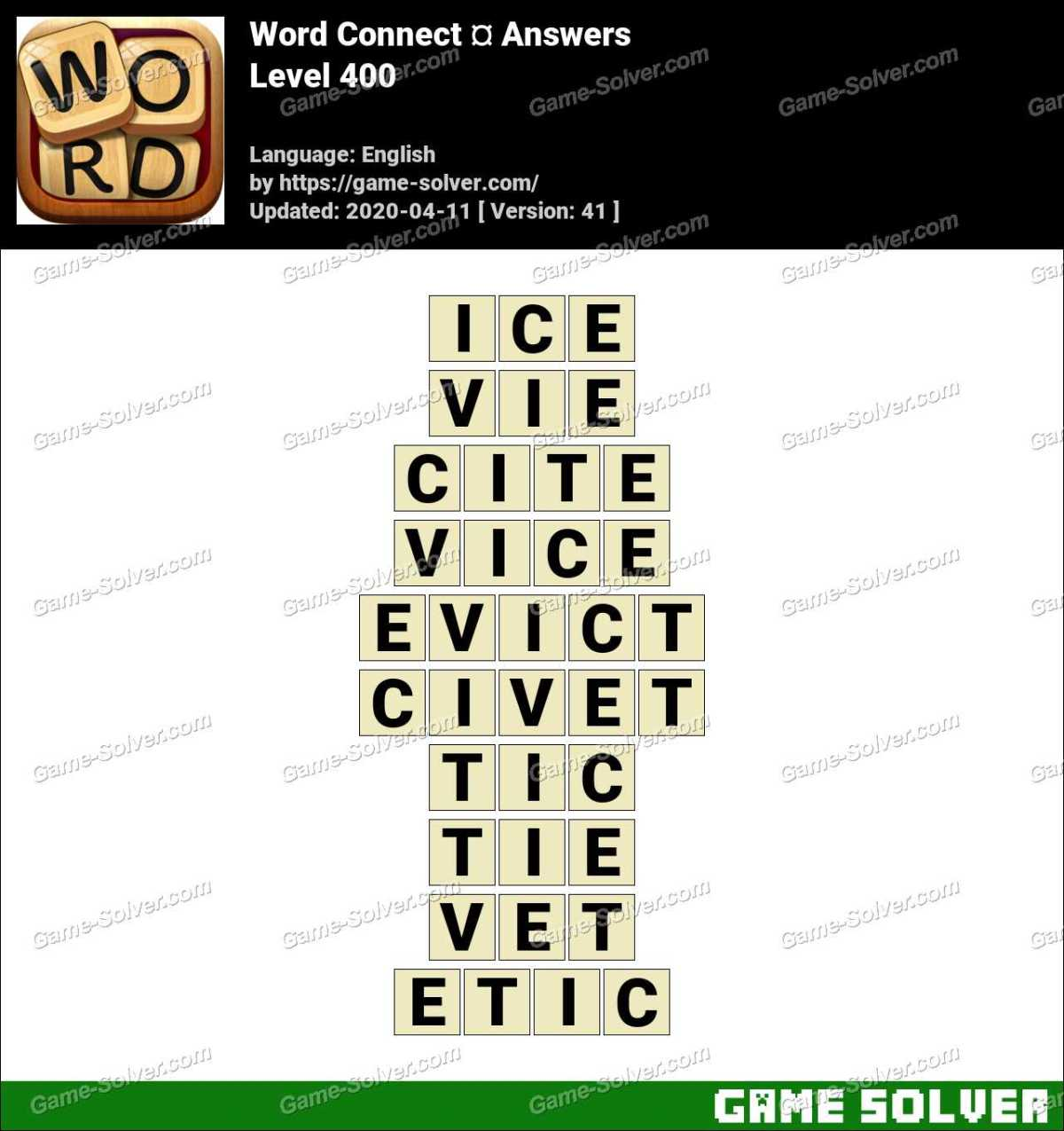 Word Connect Level 400 Answers