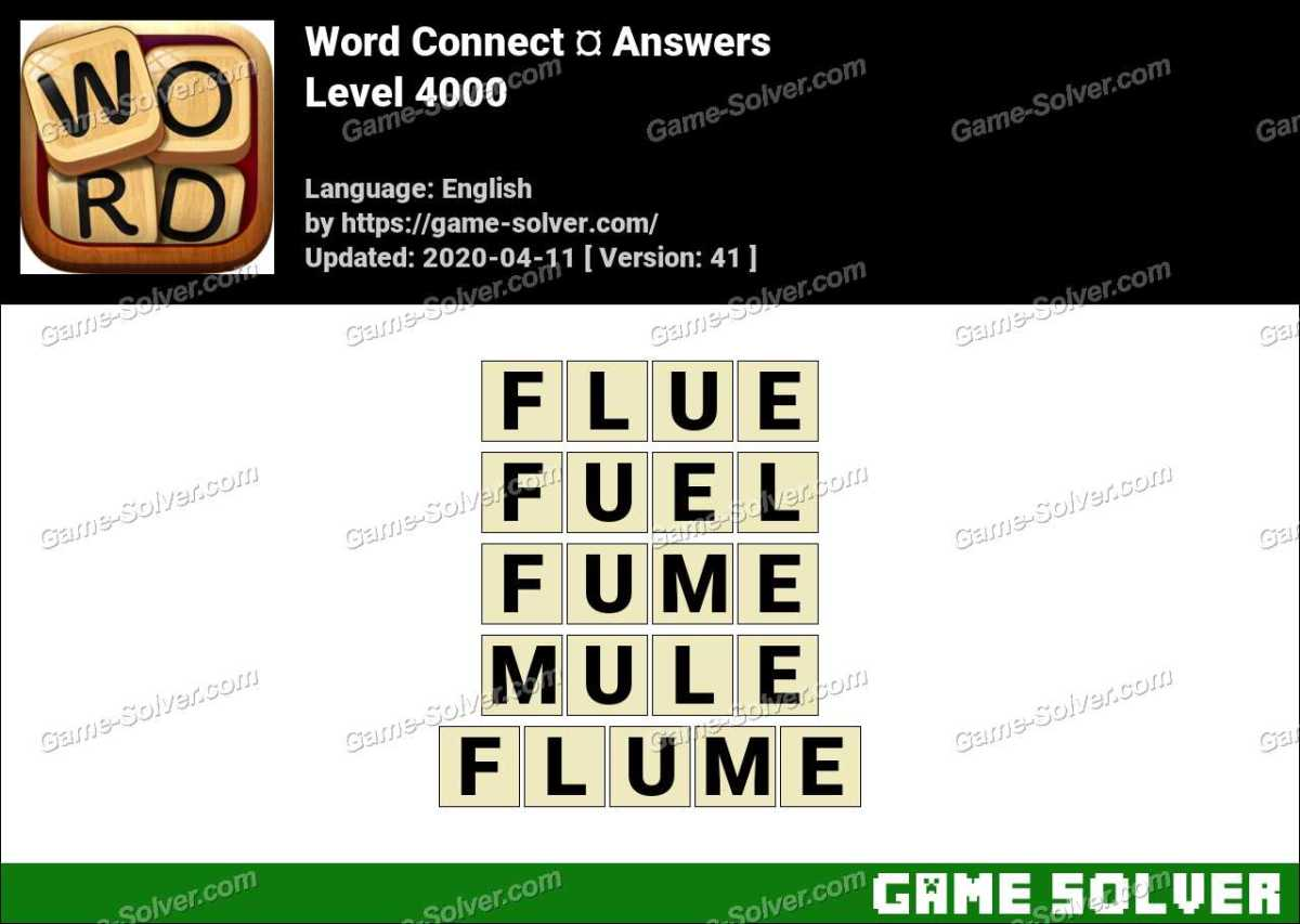 Word Connect Level 4000 Answers