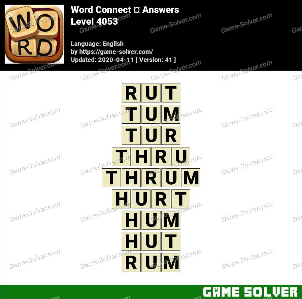 Word Connect Level 4053 Answers