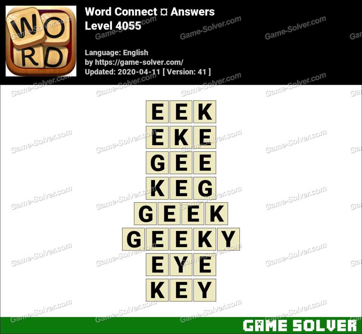 Word Connect Level 4055 Answers