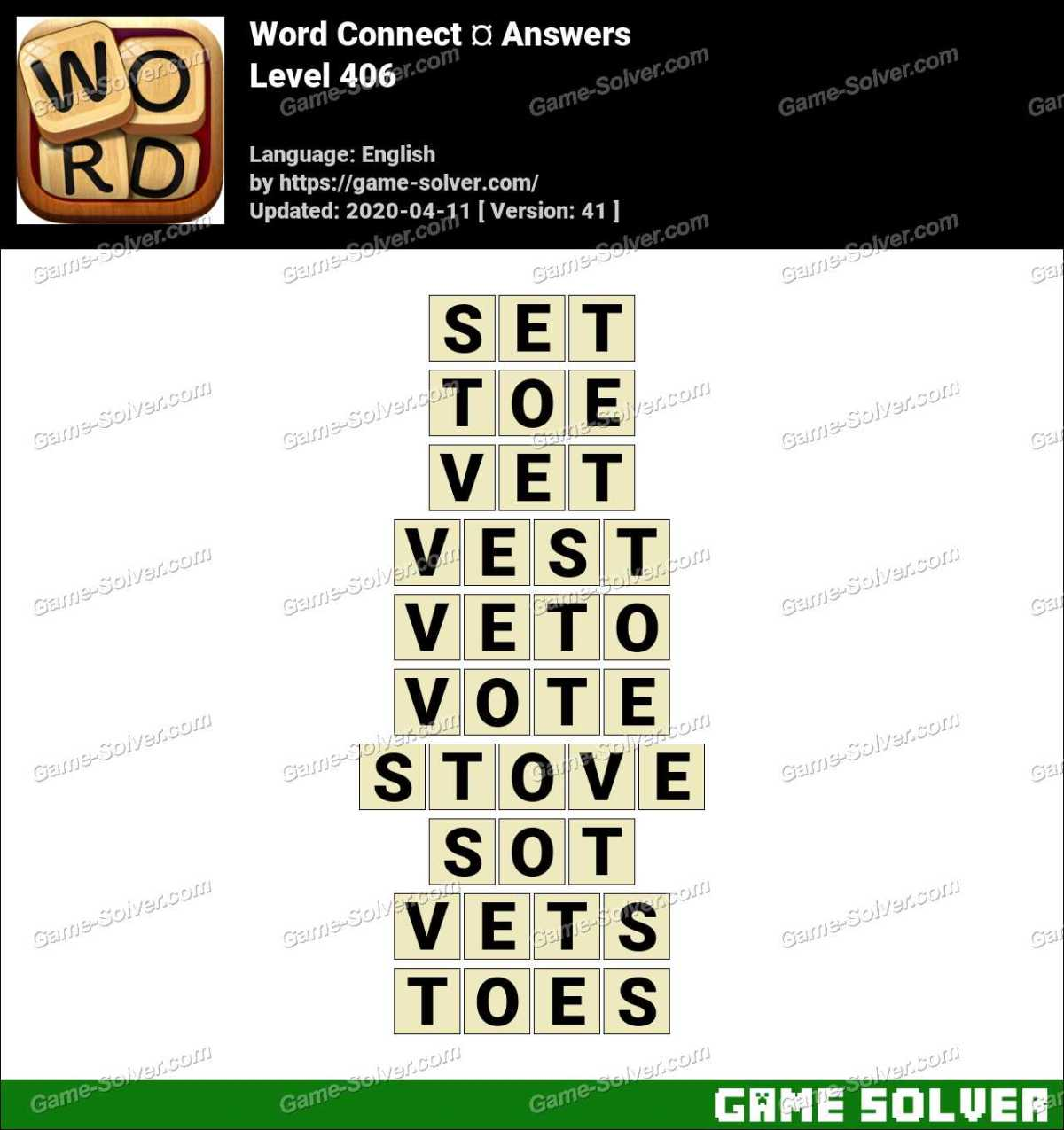 Word Connect Level 406 Answers