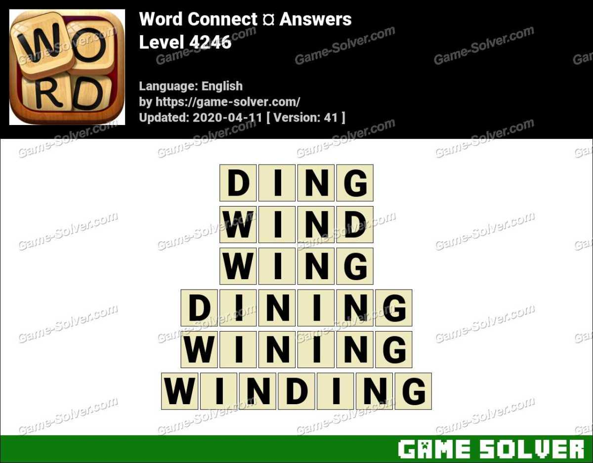 Word Connect Level 4246 Answers