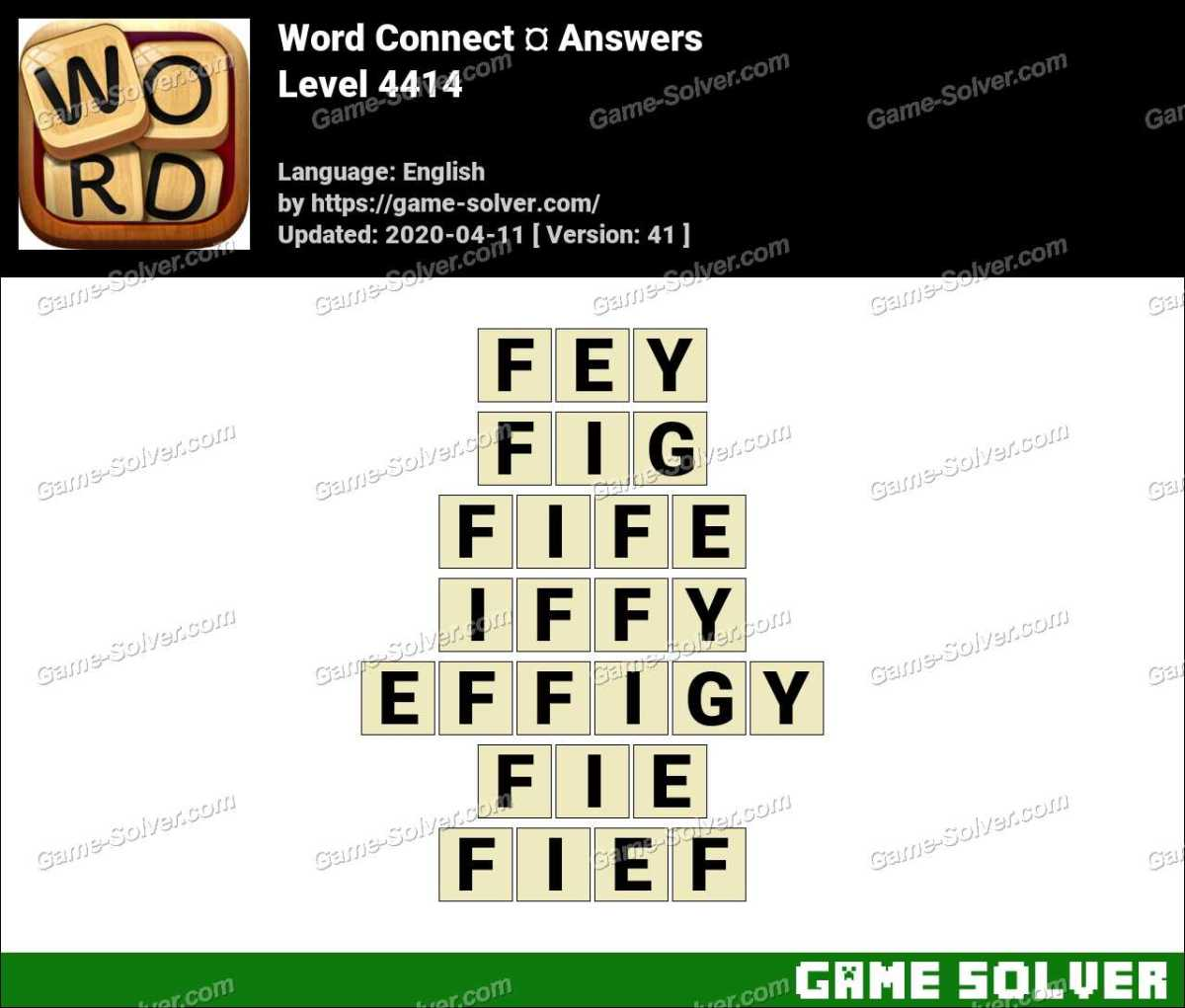 Word Connect Level 4414 Answers