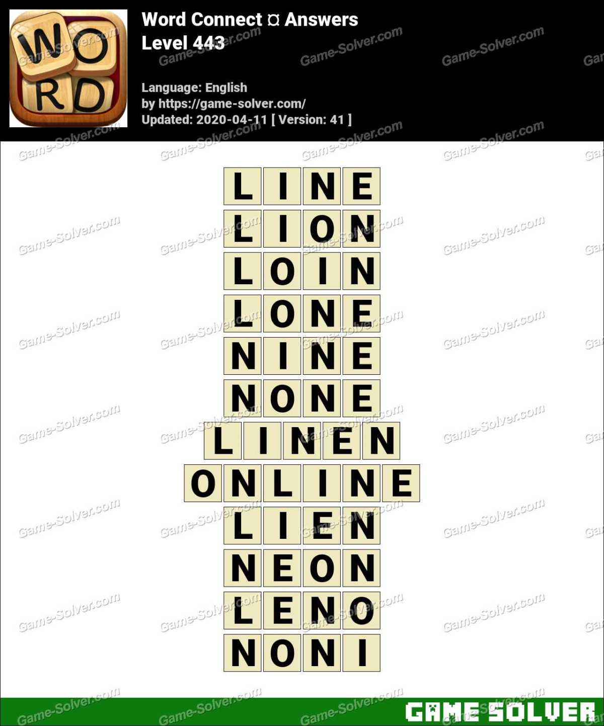 Word Connect Level 443 Answers
