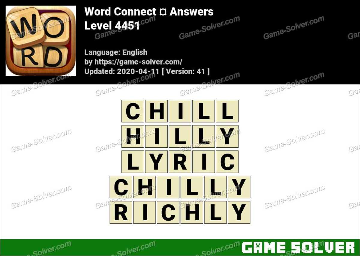 Word Connect Level 4451 Answers
