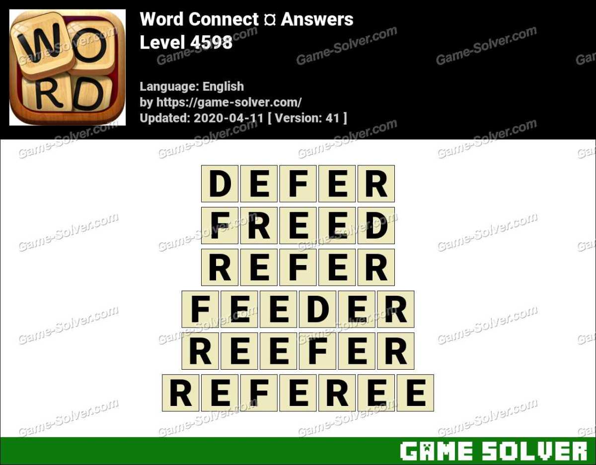 Word Connect Level 4598 Answers