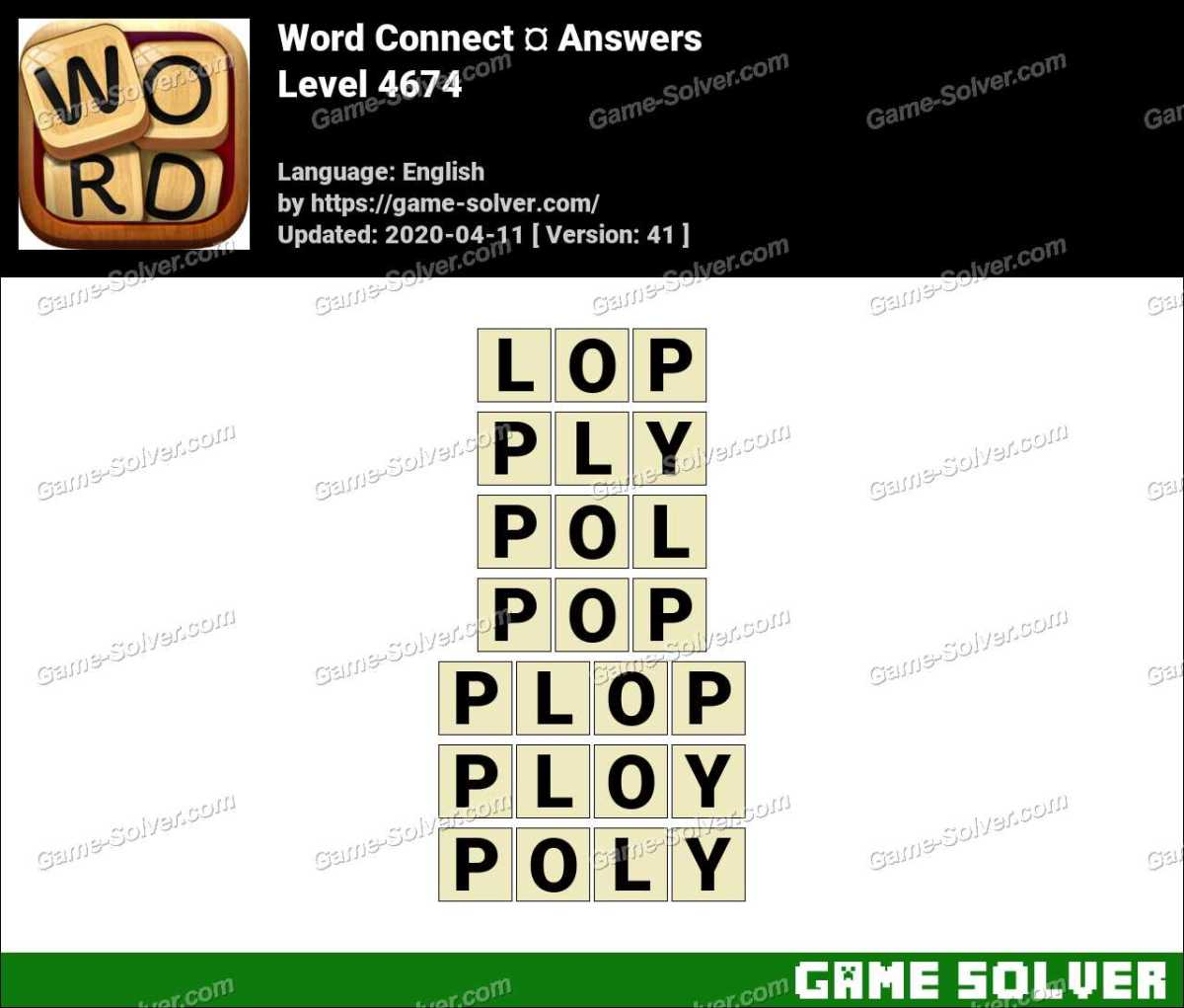 Word Connect Level 4674 Answers