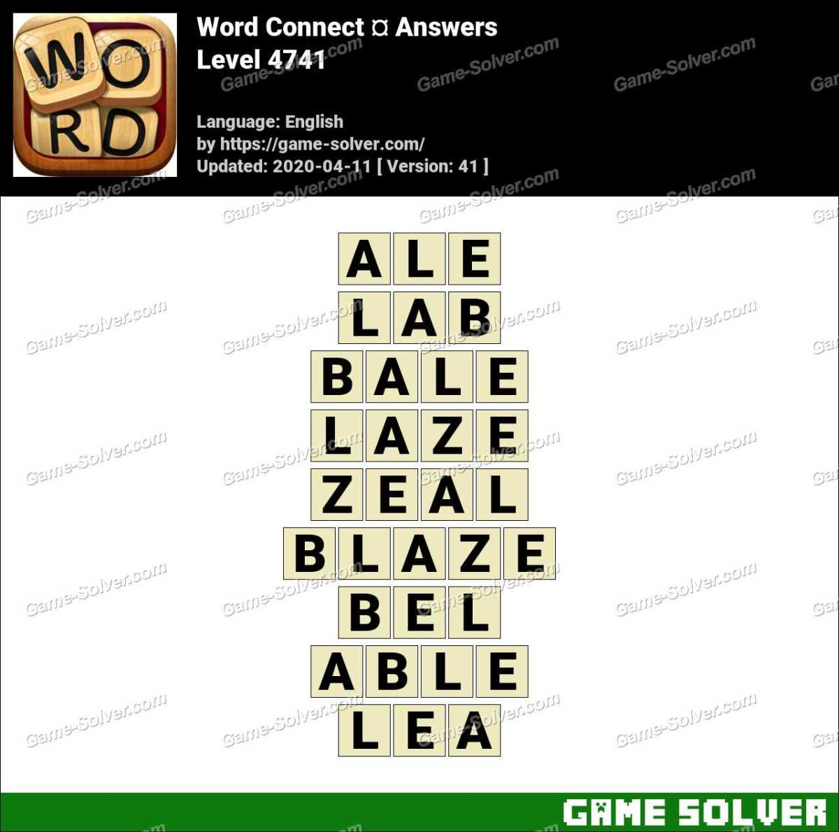 Word Connect Level 4741 Answers