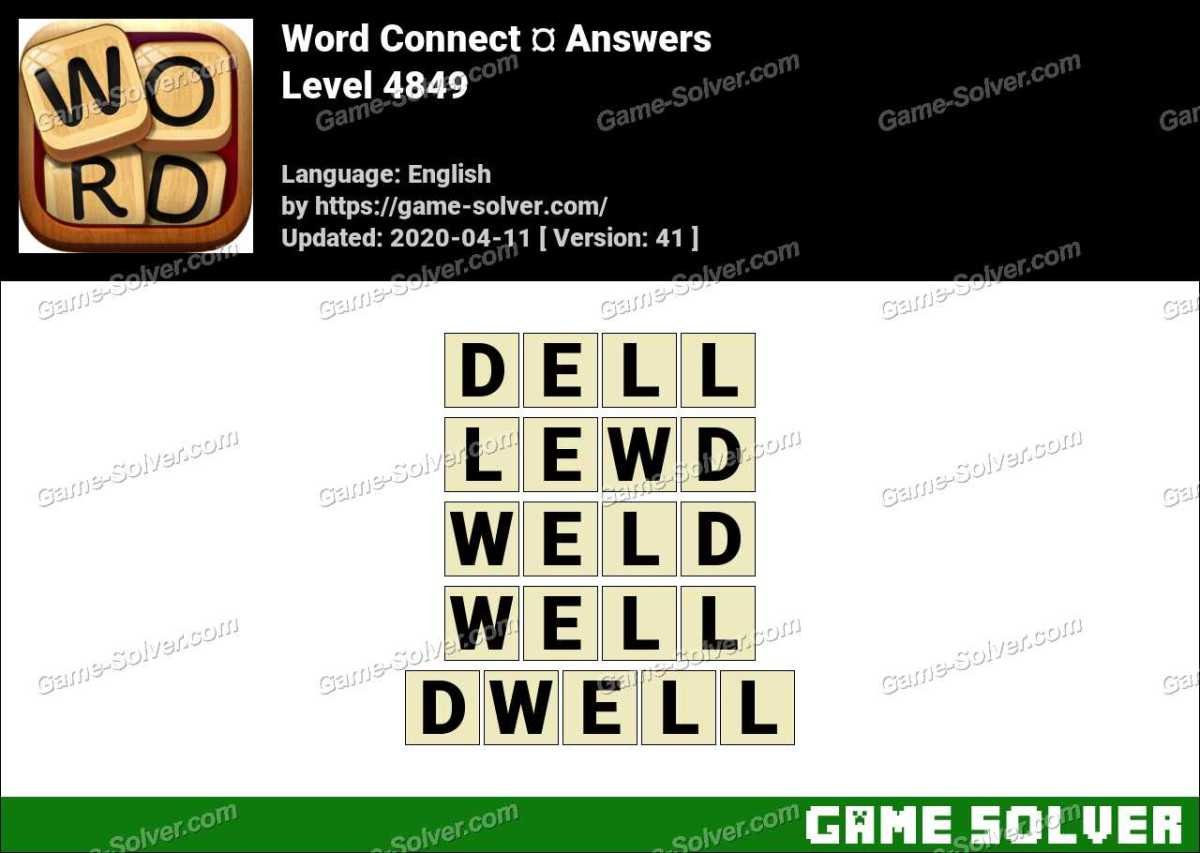 Word Connect Level 4849 Answers