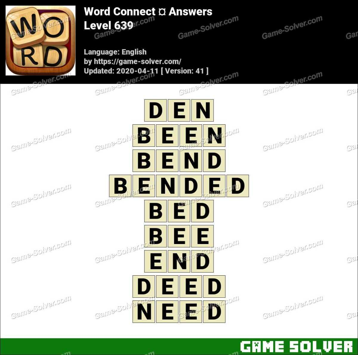 Word Connect Level 639 Answers