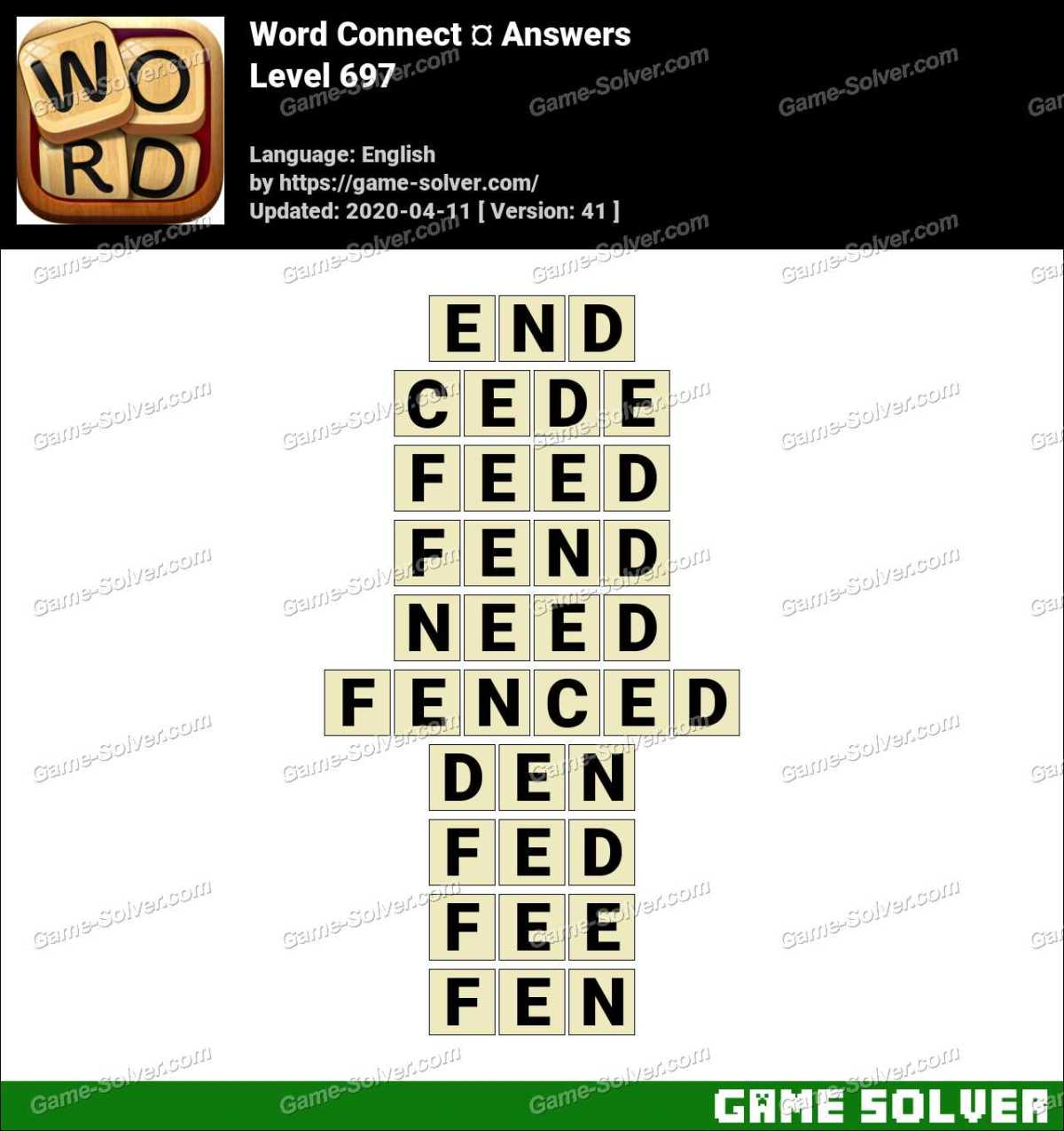 Word Connect Level 697 Answers