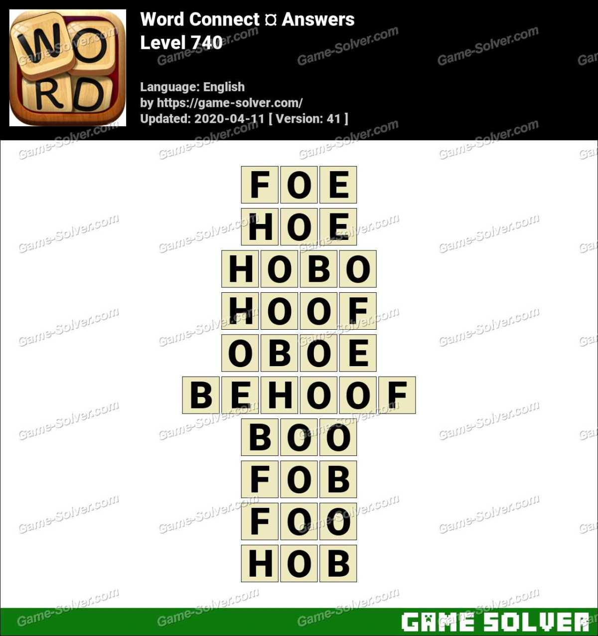 Word Connect Level 740 Answers