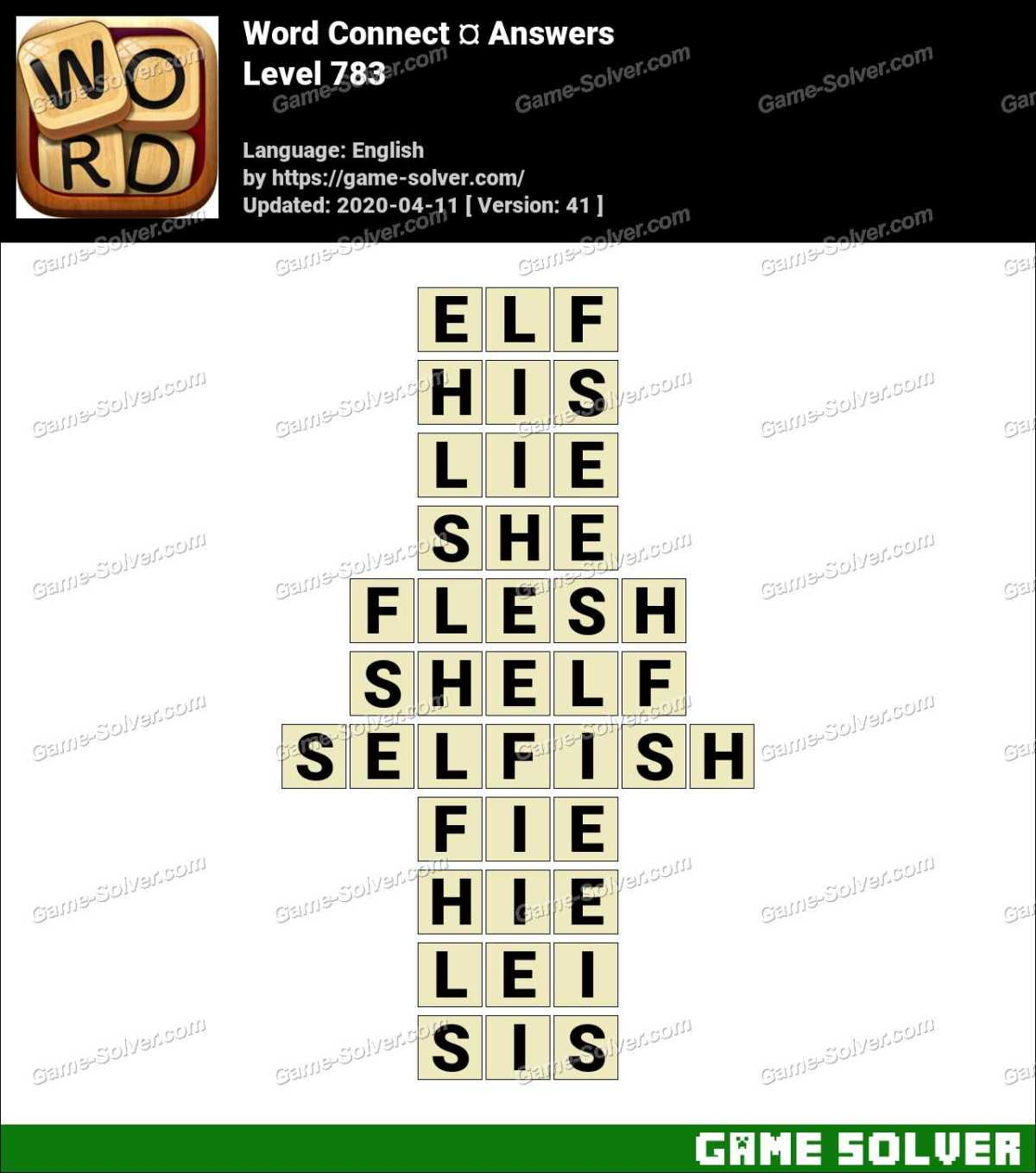 Word Connect Level 783 Answers