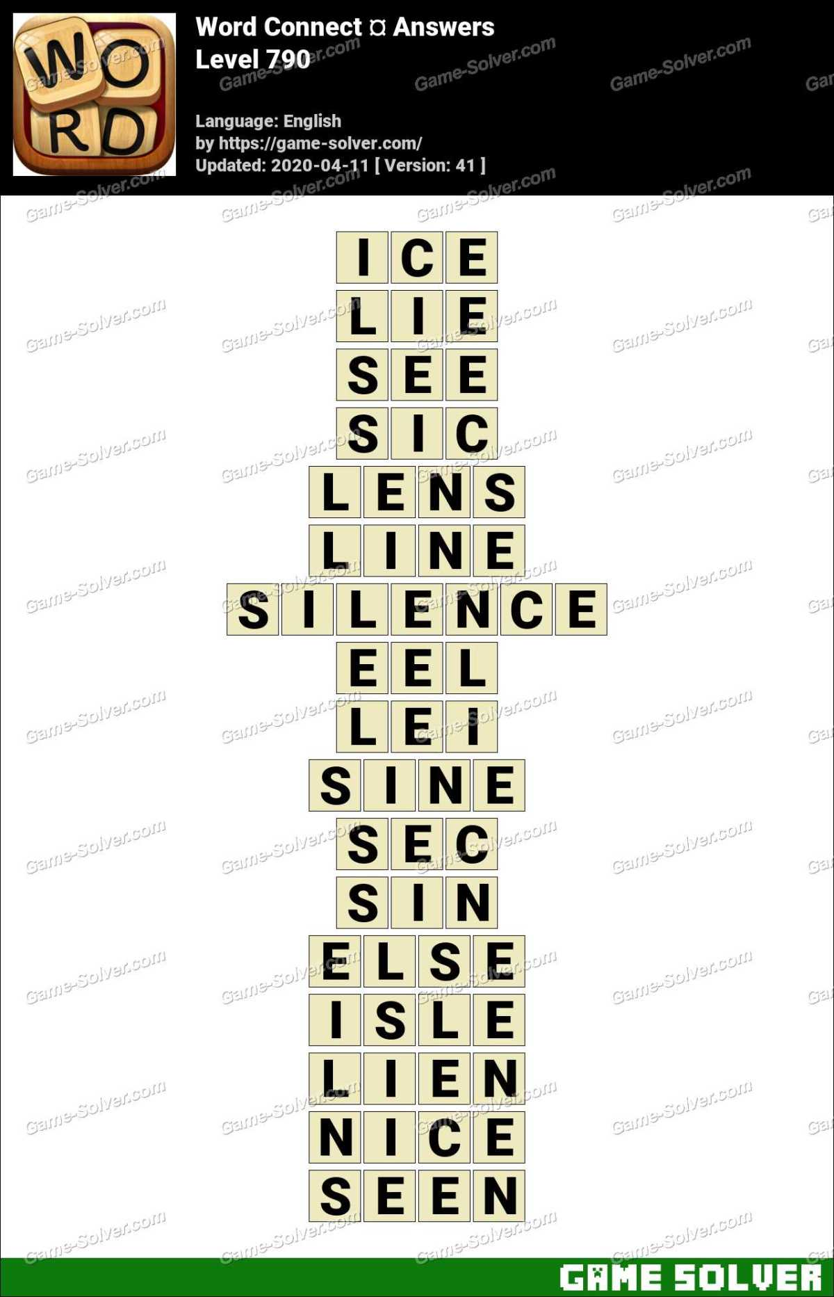 Word Connect Level 790 Answers