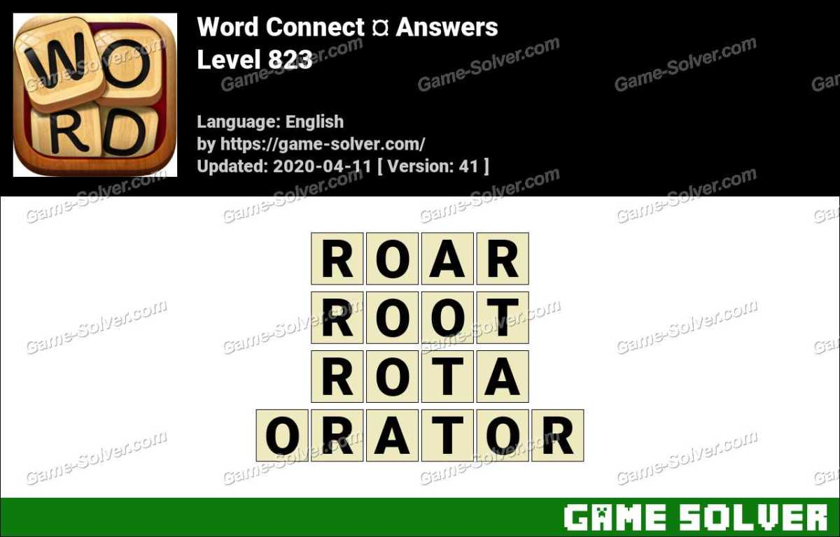 Word Connect Level 823 Answers