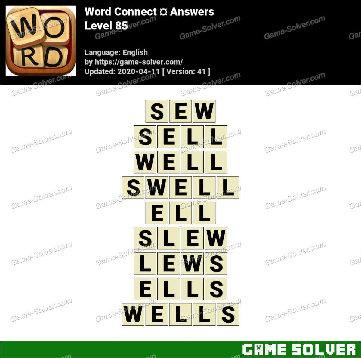 Word Connect Level 85 Answers
