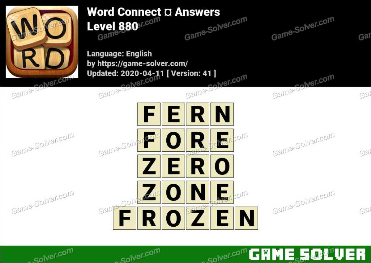 Word Connect Level 880 Answers