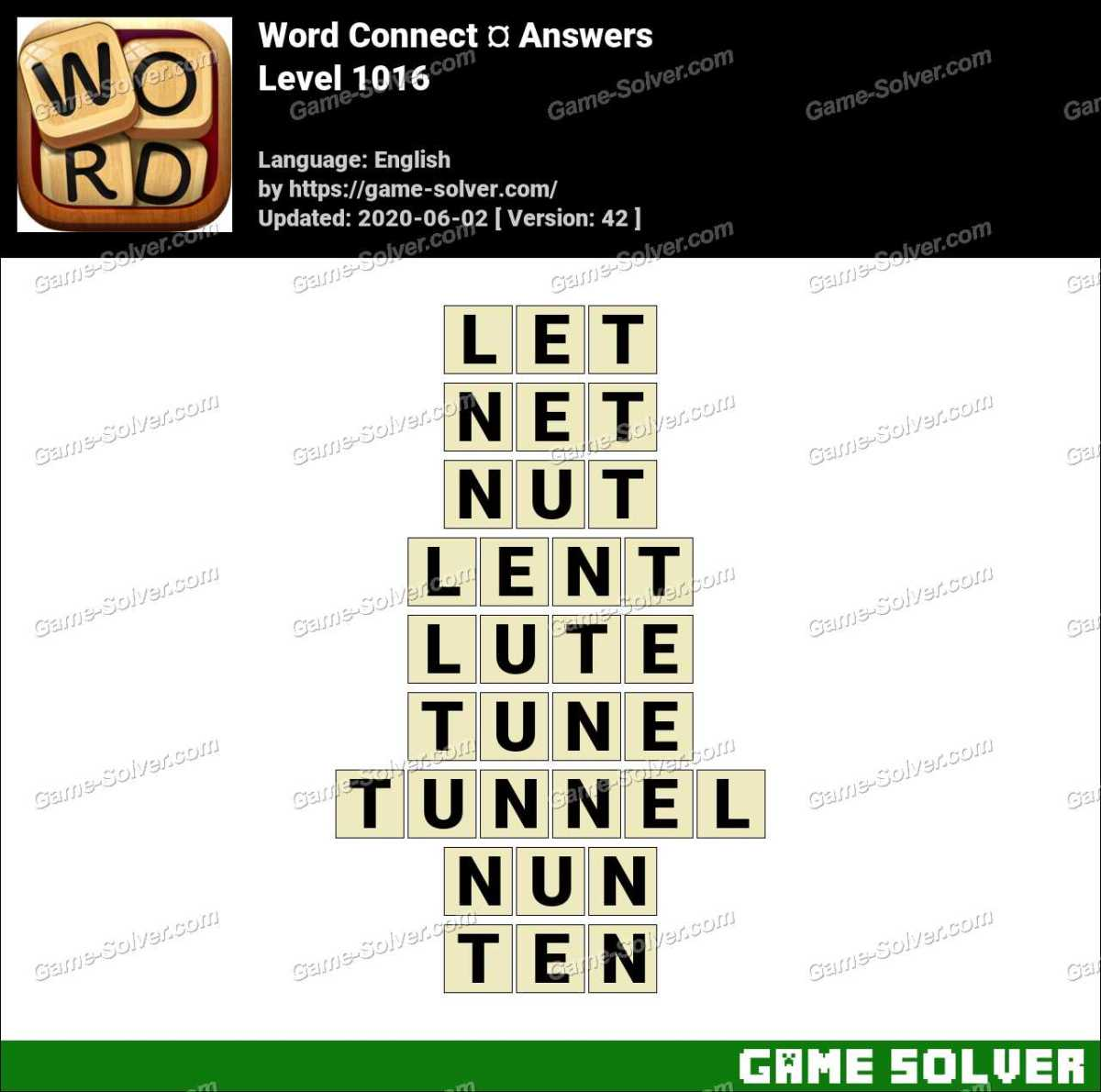 Word Connect Level 1016 Answers