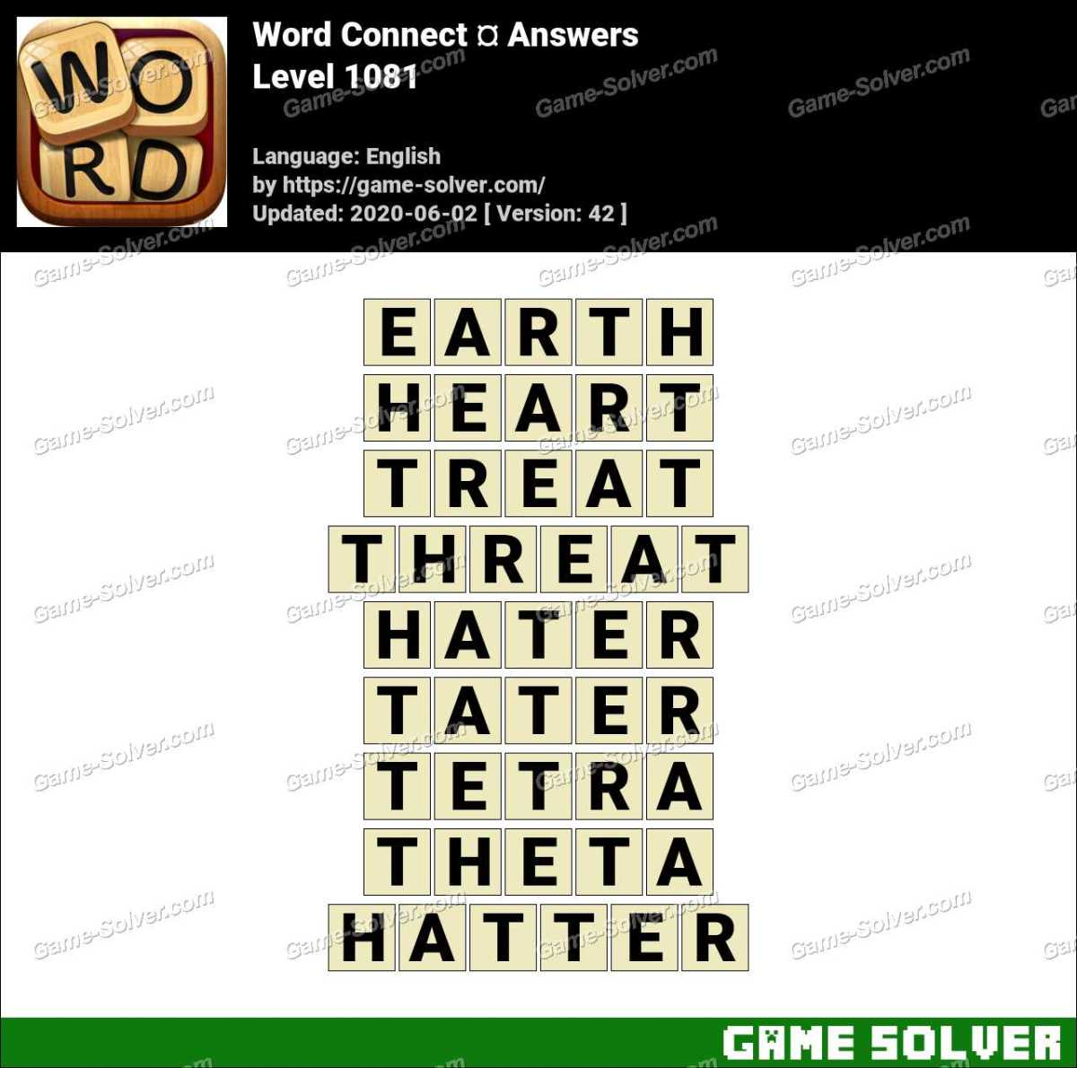 Word Connect Level 1081 Answers