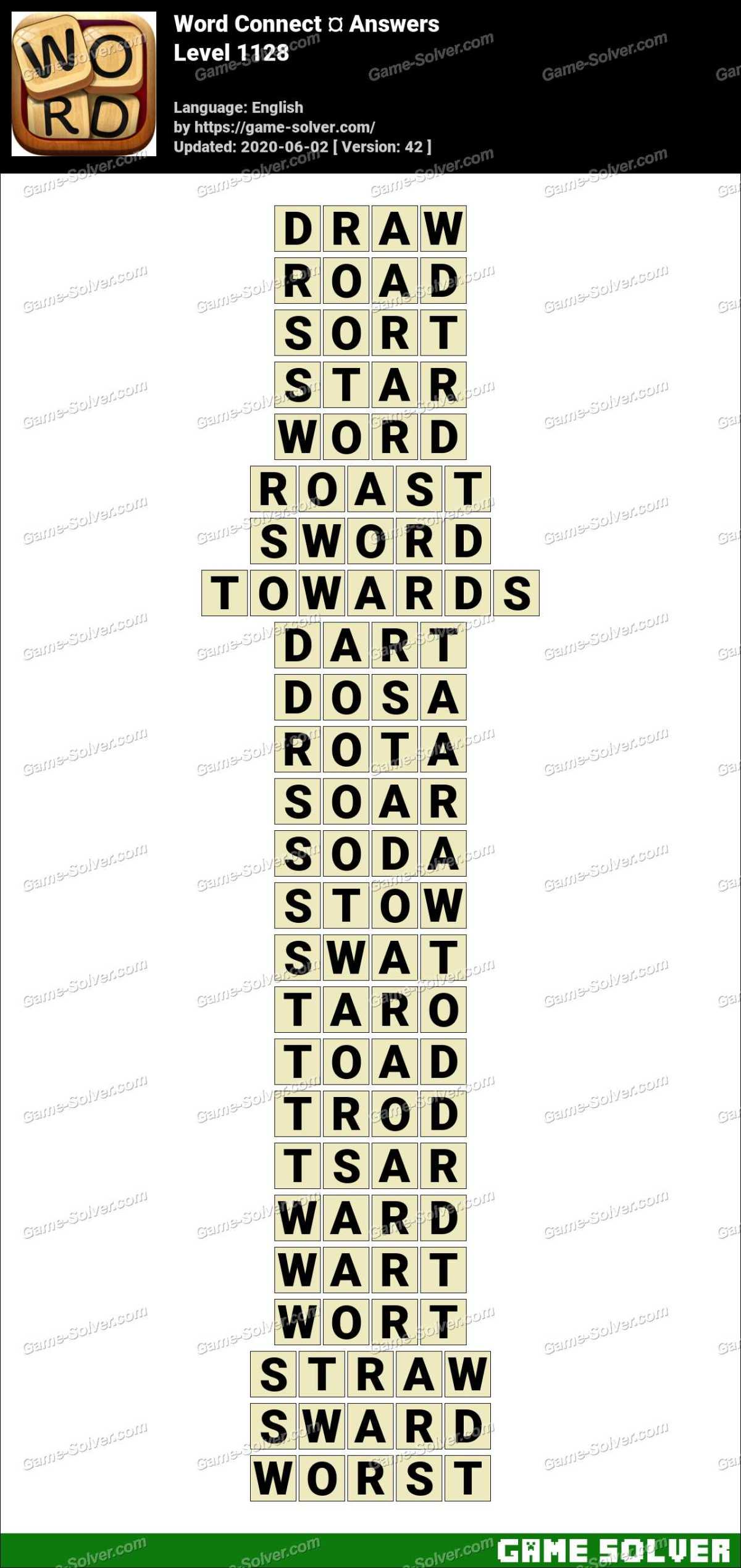 Word Connect Level 1128 Answers