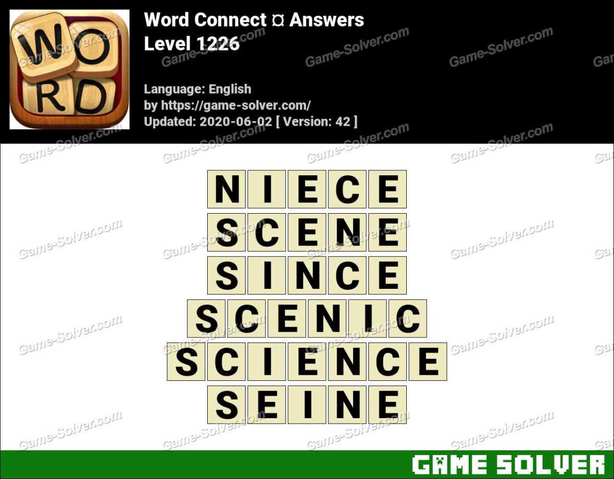 Word Connect Level 1226 Answers