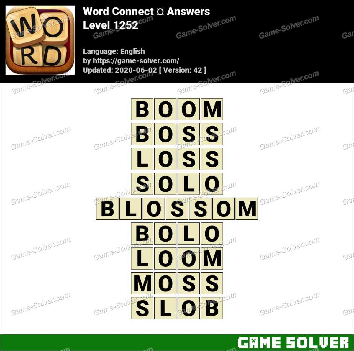 Word Connect Level 1252 Answers
