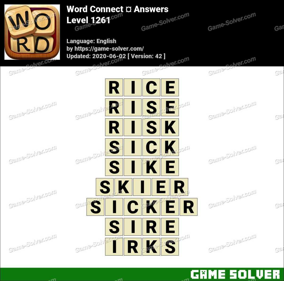 Word Connect Level 1261 Answers