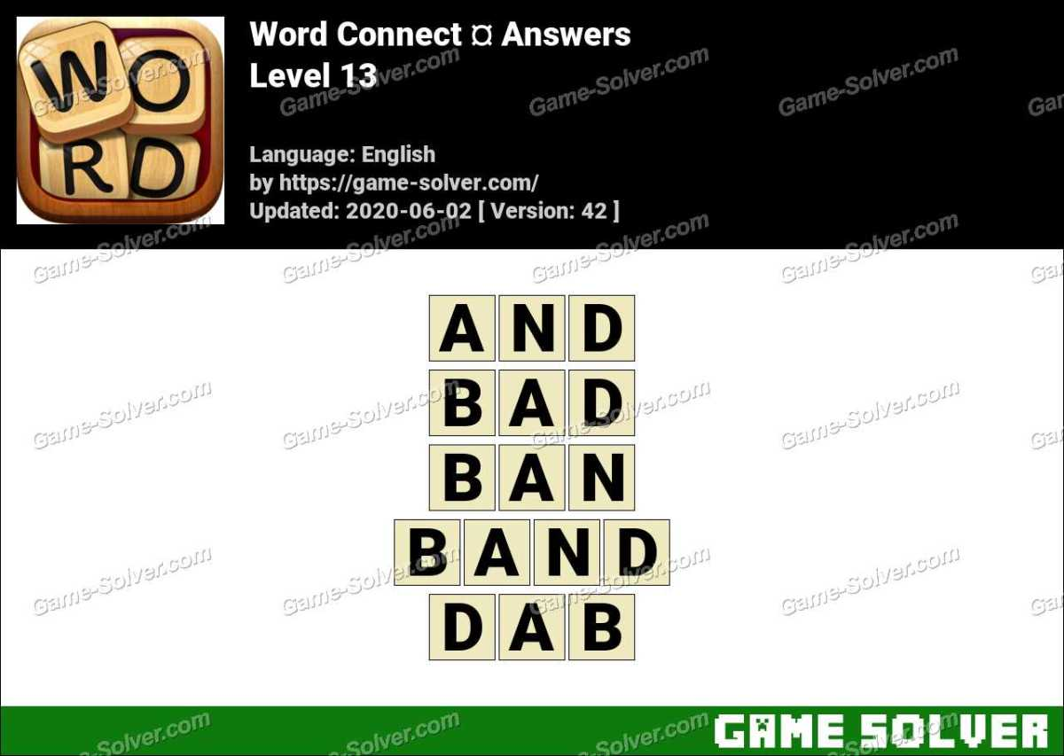 Word Connect Level 13 Answers