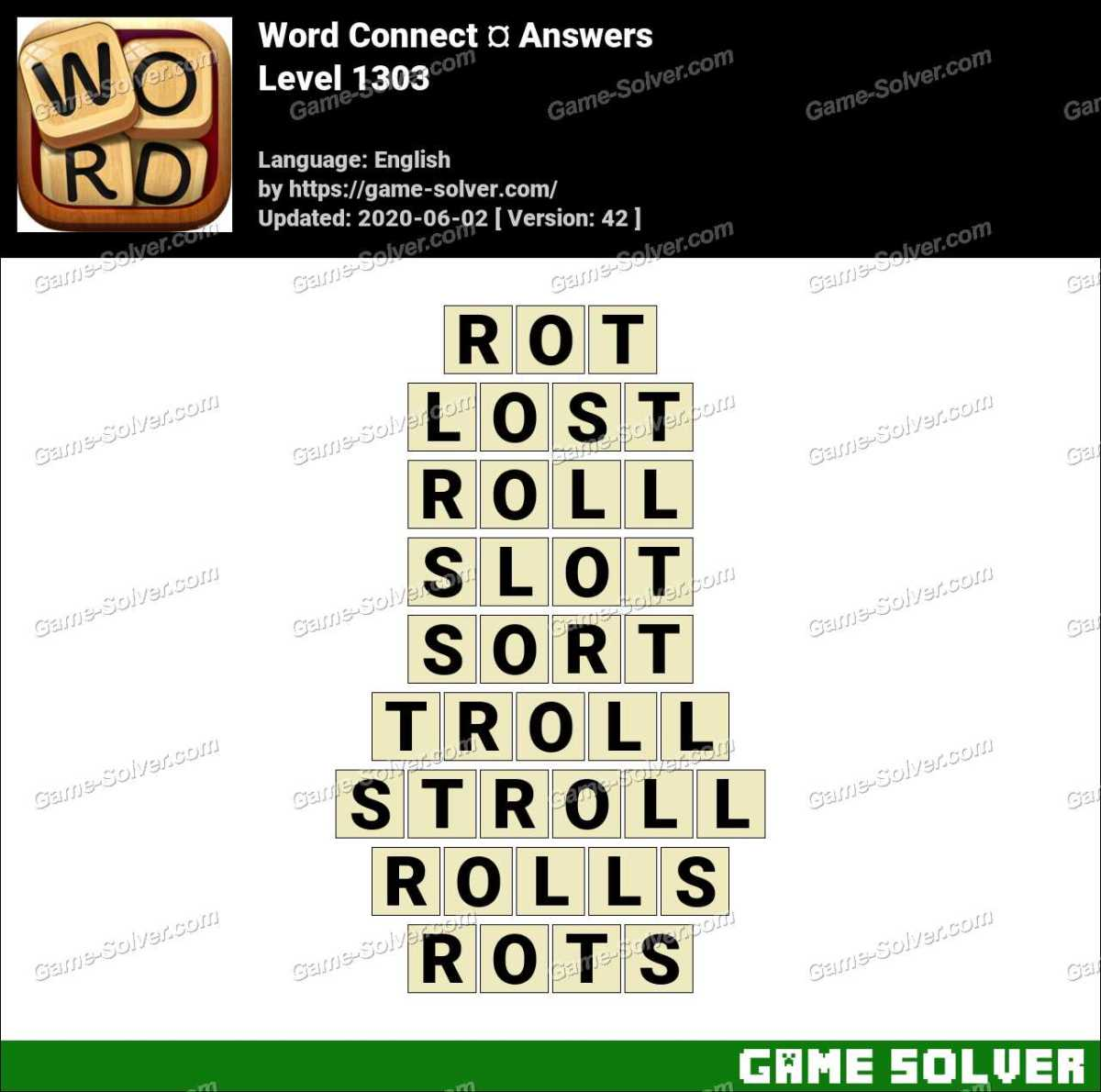 Word Connect Level 1303 Answers