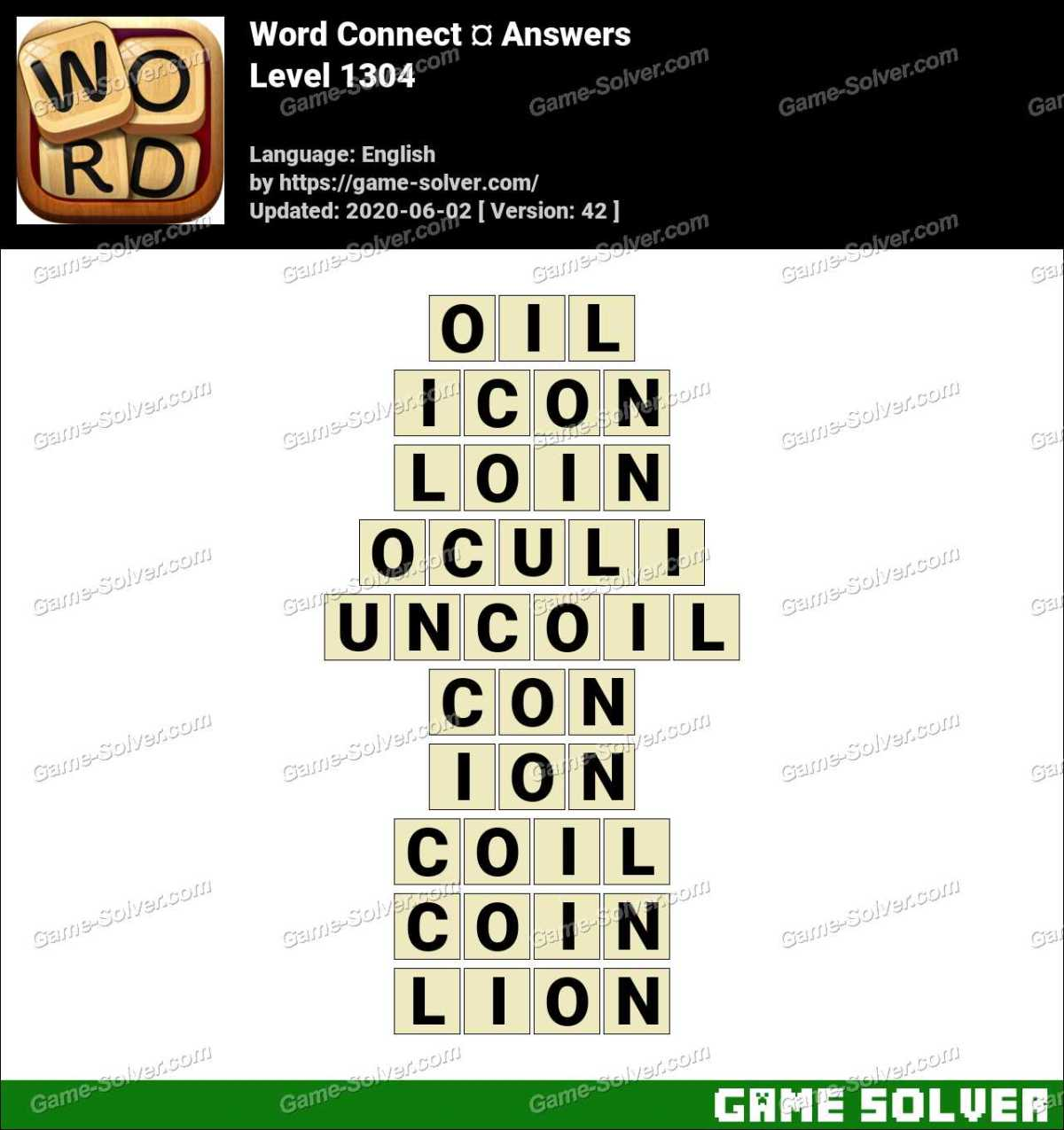 Word Connect Level 1304 Answers