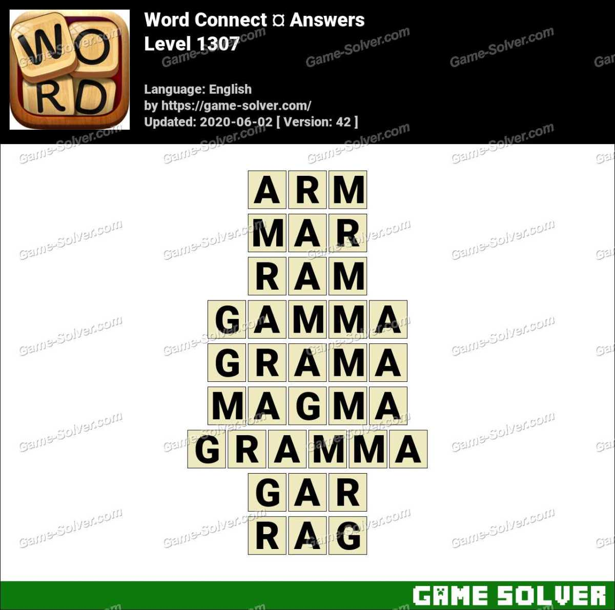 Word Connect Level 1307 Answers