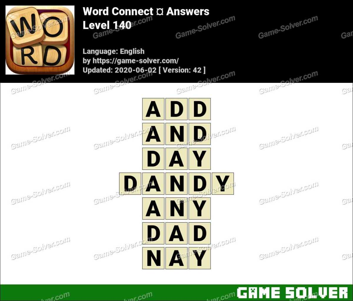 Word Connect Level 140 Answers