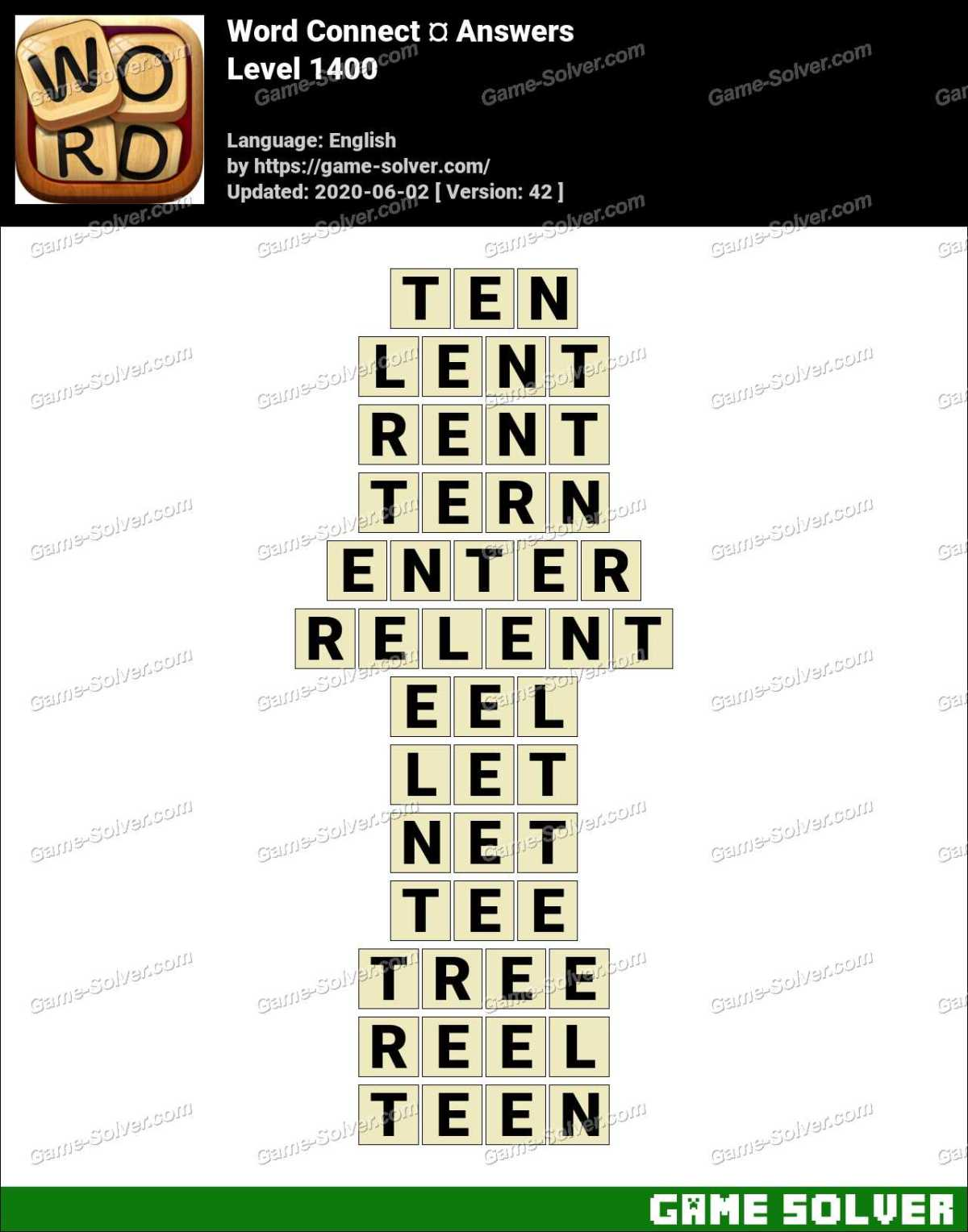 Word Connect Level 1400 Answers