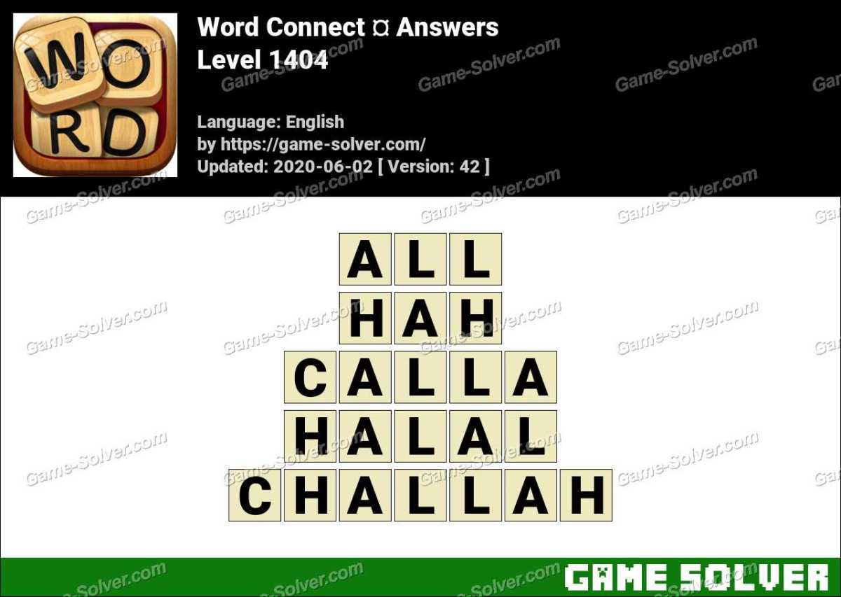 Word Connect Level 1404 Answers