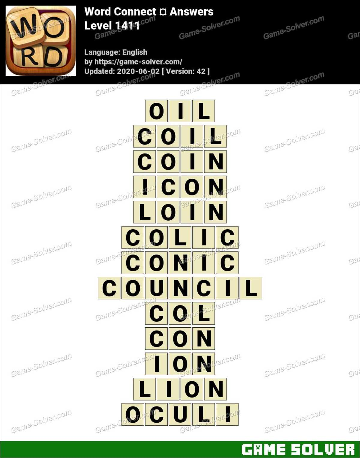 Word Connect Level 1411 Answers
