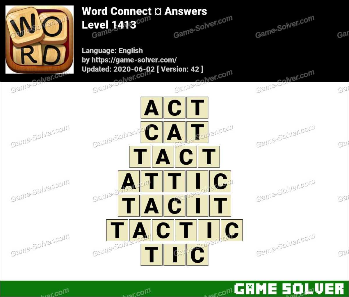 Word Connect Level 1413 Answers