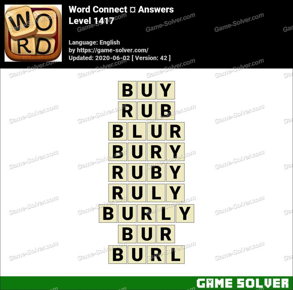 Word Connect Level 1417 Answers