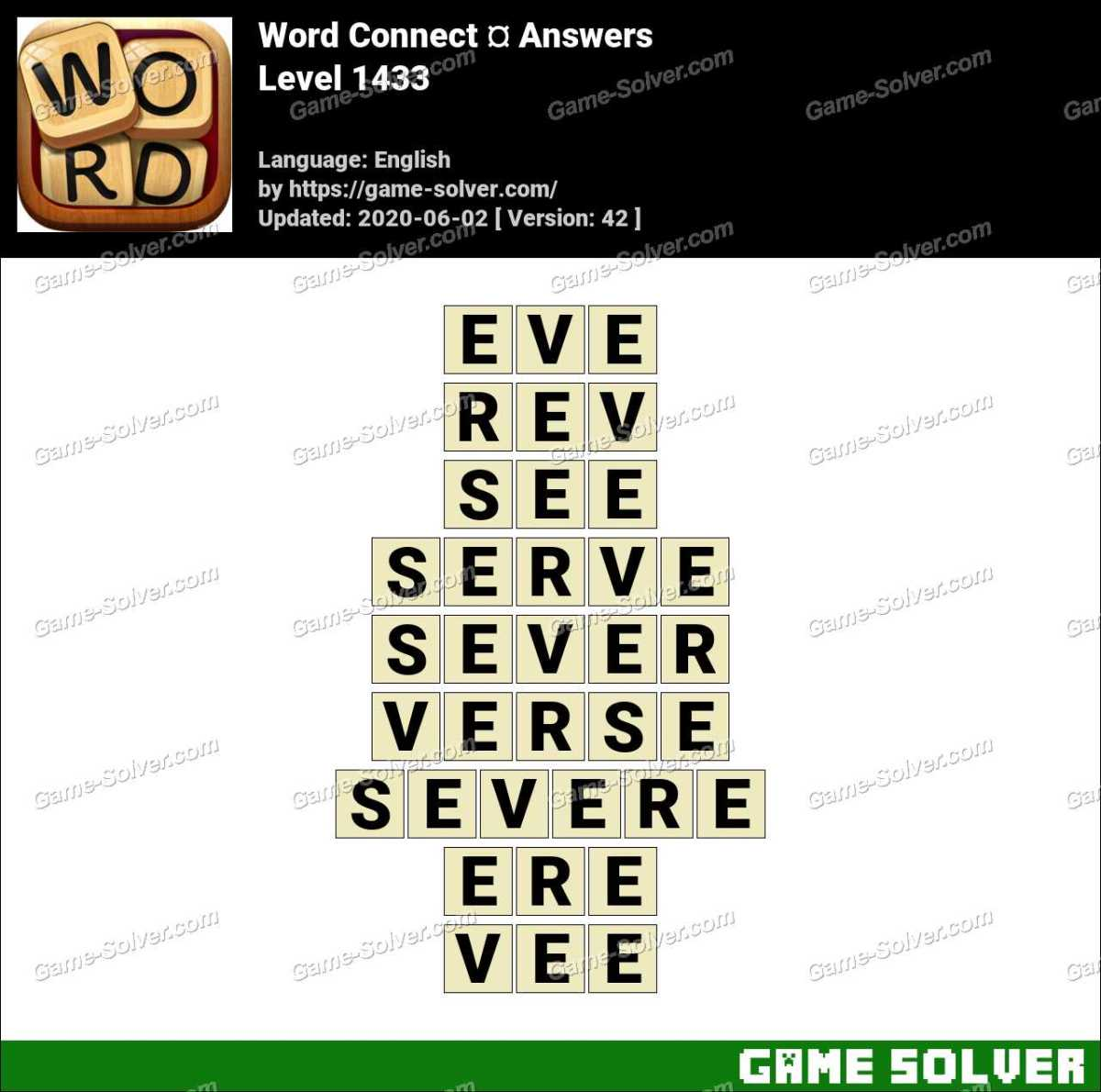Word Connect Level 1433 Answers