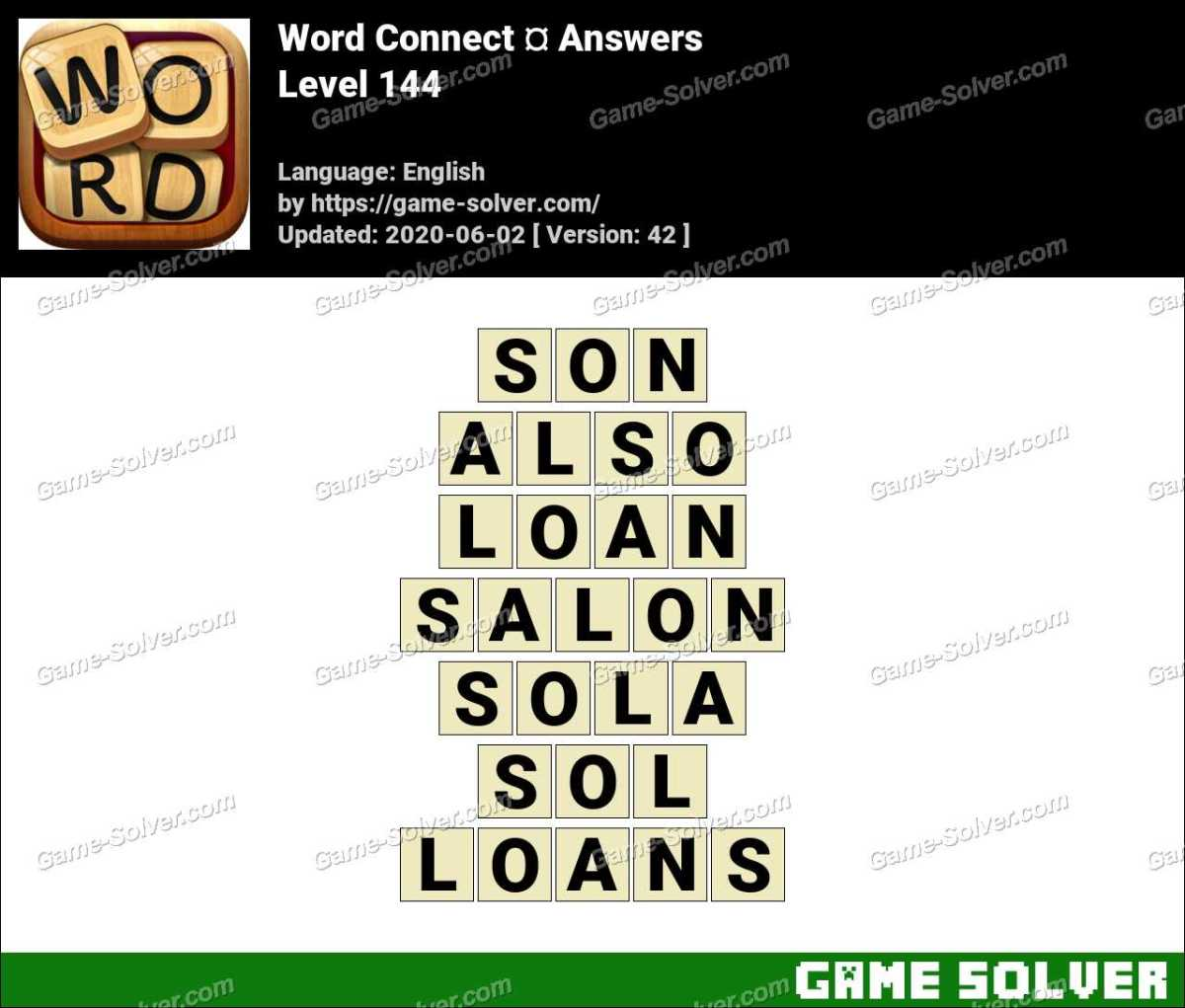 Word Connect Level 144 Answers
