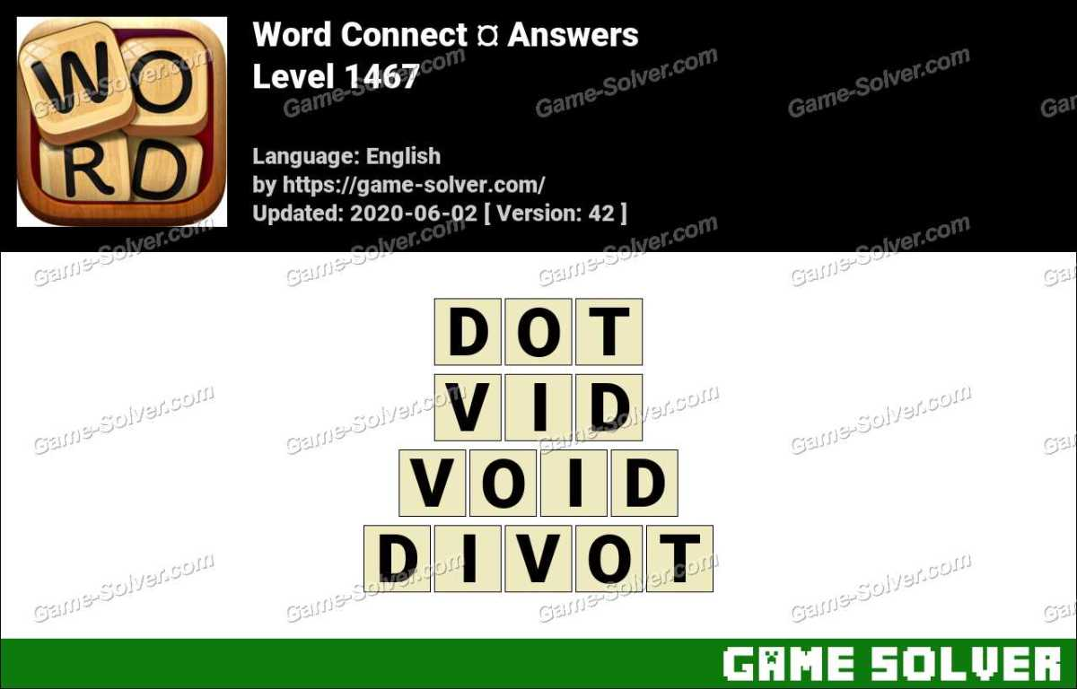 Word Connect Level 1467 Answers