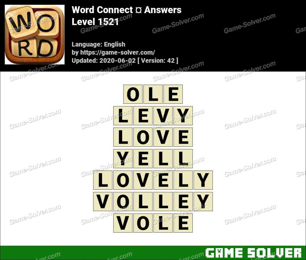 Word Connect Level 1521 Answers