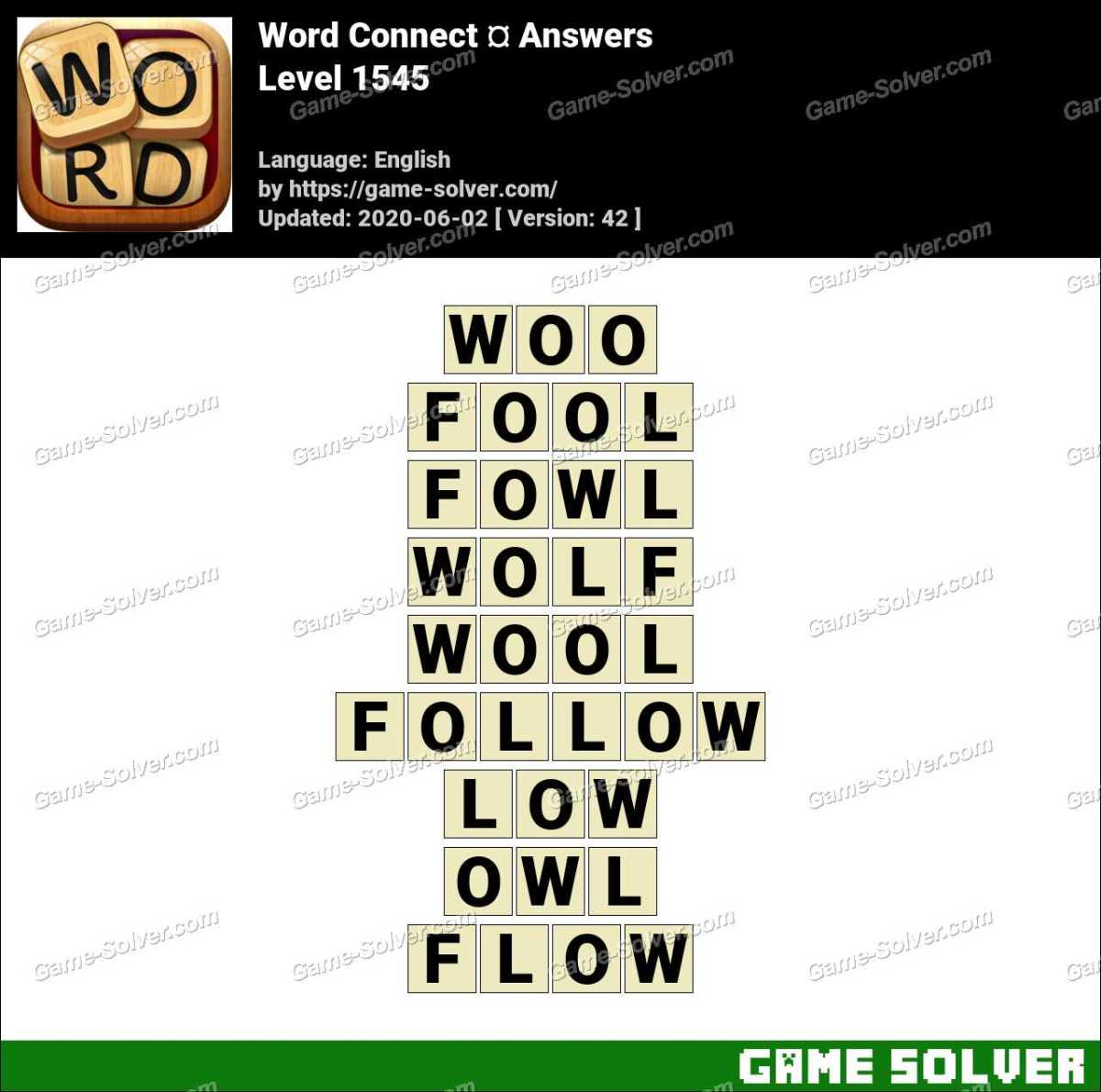 Word Connect Level 1545 Answers