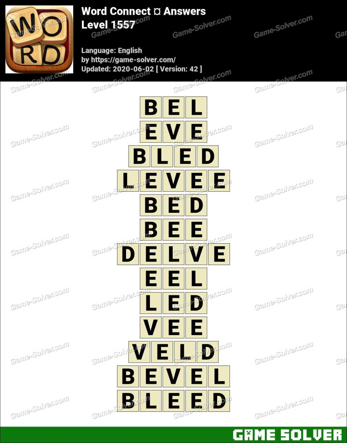 Word Connect Level 1557 Answers