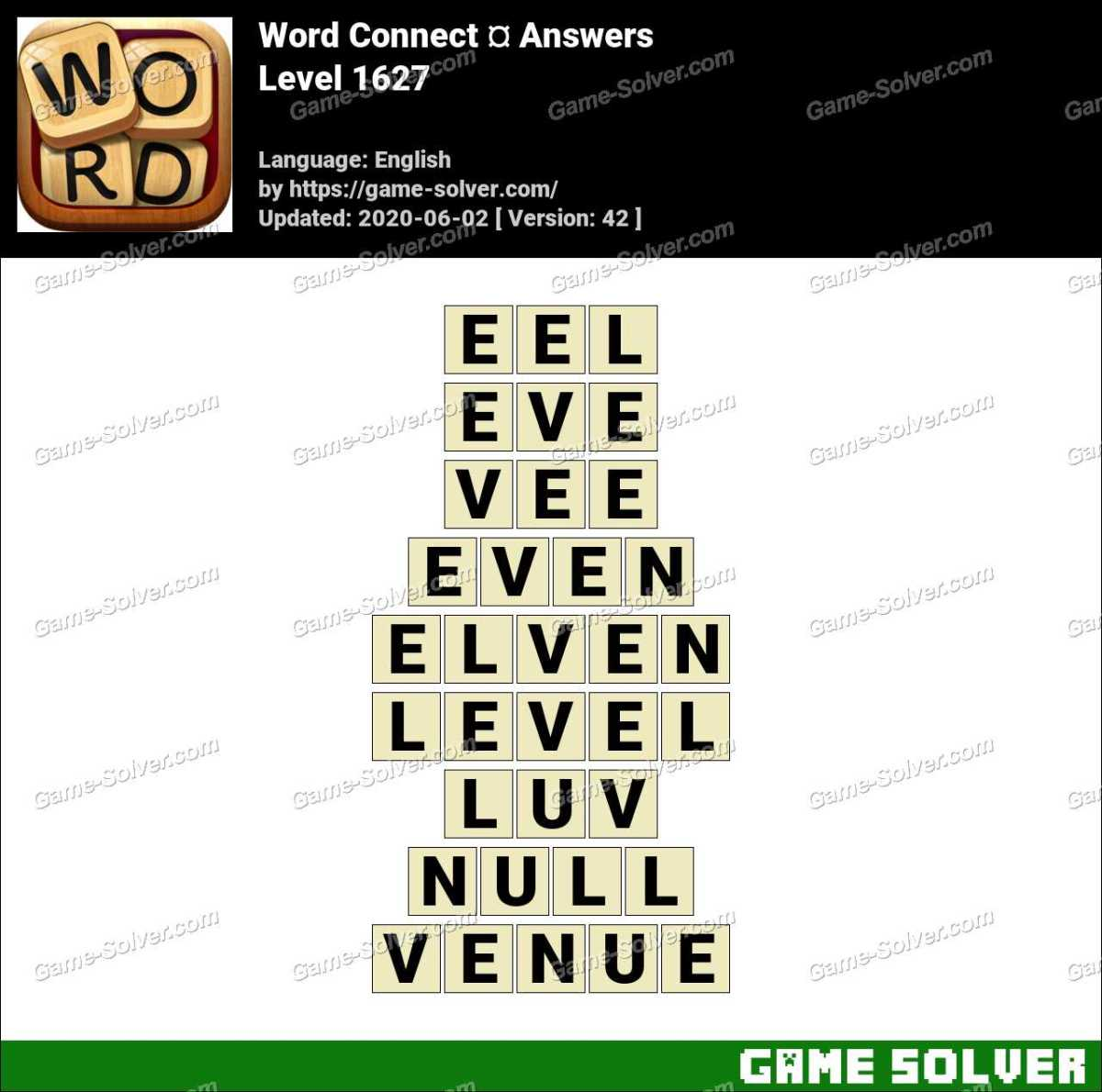 Word Connect Level 1627 Answers